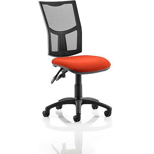 eclipse ii lever task operator office chair mesh back with pimento