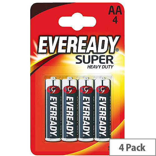Eveready Battery Silver AA Pack 4 R6B4UP
