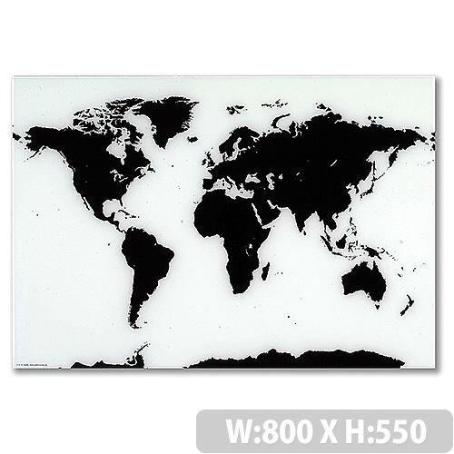 Franken glass magnetic board world map 550 x 800mm white black franken glass magnetic board world map 550 x 800mm white black gtkw5580 gumiabroncs Choice Image
