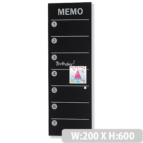 Franken Glass Magnetic Memo Board Planner 40x40mm Black GTM40 Best Black Magnetic Memo Board