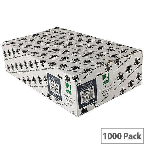 Q-Connect Envelopes DL Window White Wallet Press Seal  90gsm Pack 1000 KF3481