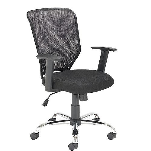 Mesh Back Office Chair With Arms Chrome Base Black Tilt Tension Adjustment Mechanism Recommended Usage Time Of 5 Hours A Day Ideal Chair For
