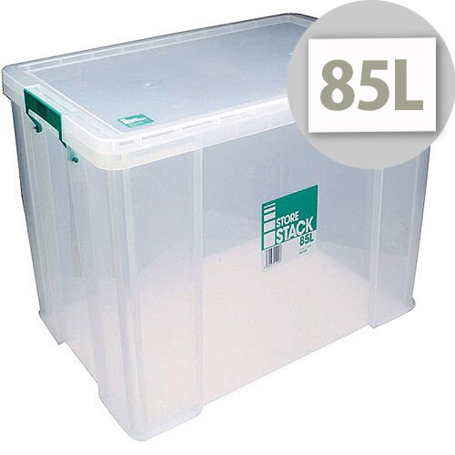 StoreStack 85L Plastic Storage Box W660xD440xH390mm RB11090  sc 1 st  Hunt Office UK & StoreStack 85L Plastic Storage Box W660xD440xH390mm RB11090 ...