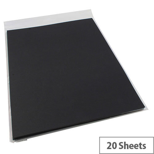 RDI Office Card A4 Black 210gsm (Pack of 20 Sheets)