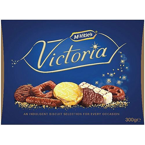 McVities Victoria Assortment Of Chocolate Biscuits Selection Box Carton  300g (Pack 1) 28780