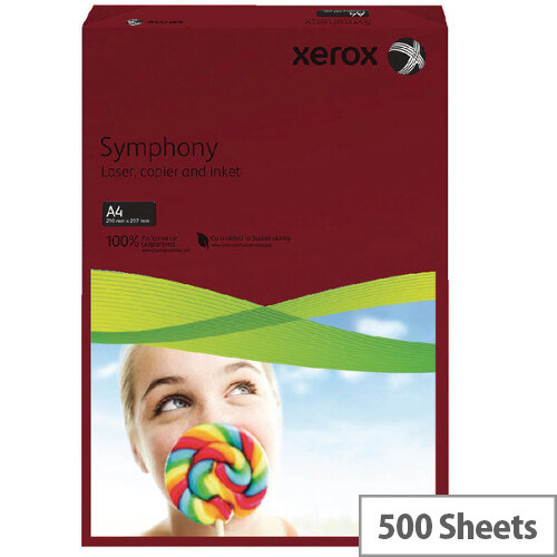 Dark Red A4 80gsm Paper Xerox Symphony