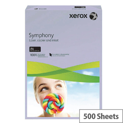 Xerox Symphony A4 80g Ream Medium Lilac 500 Sheets