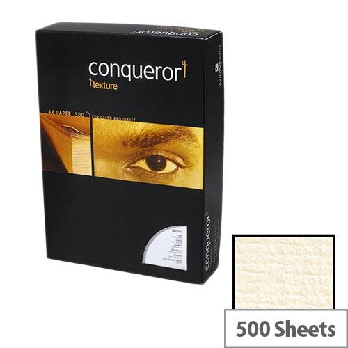 Conqueror Laid Texture Cream Premium Paper A4 100gsm 500 Sheets