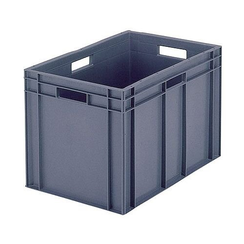 Plastic Stacking Container Grey 307493