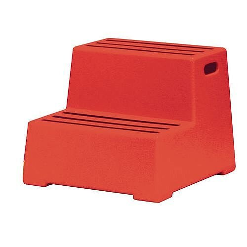 Awe Inspiring Plastic Safety Steps 2 Step Red Cjindustries Chair Design For Home Cjindustriesco
