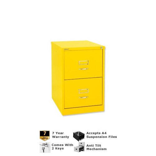 Bisley Glo Bs2c Filing Cabinet 2 Drawer H711mm Lemon Bs2c