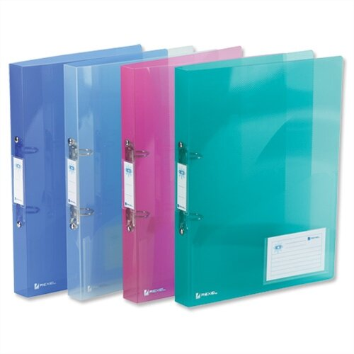 Rexel Ice A4 Assorted Ring Binder Plastic Standard 25mm
