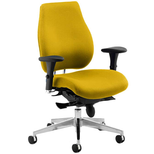 Chiro Plus High Back Ergonomic Posture Office Chair Sunset Yellow