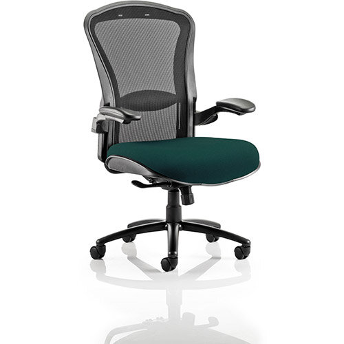 houston heavy duty task operator office chair black mesh back