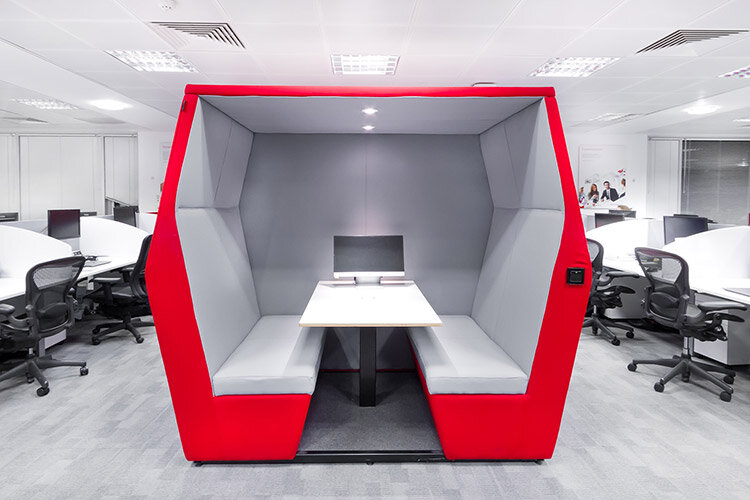 Beari8ng Point office fitout in Dublin - Meeting Pod