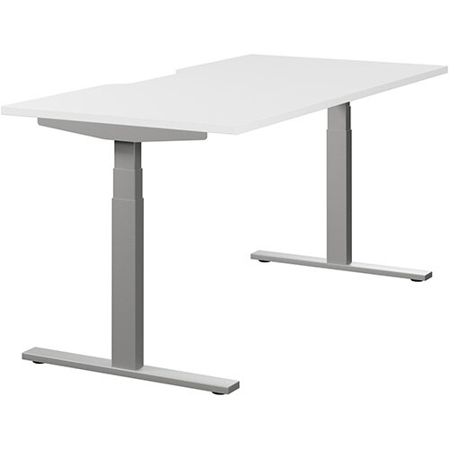 LEAP Electric Height Adjustable Sit Stand Desk Scallop Top ...