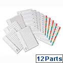 Concord Jan-Dec Index Europunched A4 Clear Tabs White