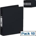 Bantex Ring Binder Black A4 Heavyweight PVC Size 25mm Pack 10
