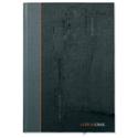 A4 Collins Ideal Manuscript Book Casebound 80gsm Ruled 192 Pages Black Ref 6428