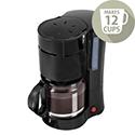 Filter Coffee Maker Single Jug Capacity 12 Cups Black