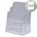 Brochure Display Holder 3 Tier A4 Pockets Clear Deflecto