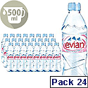 Evian Mineral Still Water 500ml Bottle Pack 24