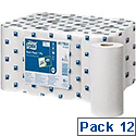 Tork Basic Mini Centrefeed Rolls 1-ply 194mm x 120m [Pack 12]