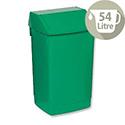 Plastic Flip Top Waste Bin 54 Litres Green Addis
