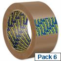 Sellotape Case Sealing Tape Vinyl 50mm x 66m Buff Ref 0246 Pack 6 025019