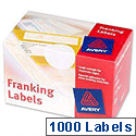 Avery Franking Labels 2 per sheet 140x38mm White FL01 1000 Labels