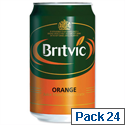 Britvic Orange Juice Pure Can 330ml A02100 Pack 24