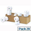 Cash Register Rolls 44x80x17.5mm Length 55m CR1 Pack 20