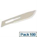 Spare Blades No. 10 for Metal Scalpel Pack 100