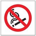 Safety Sign No Smoking Symbol 150x150mm Self-Adhesive Pack of 1 P01G/S