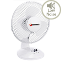 Quiet Office Desk Fan Oscillating Silent Non-Tilt 2-Speed Diameter 229mm 5 Star