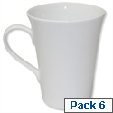 Churchill White Fine Bone China Cups Pack 6