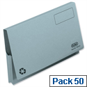 Document Wallet Full Flap Foolscap Blue Pack 50 Elba