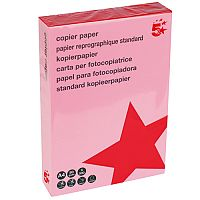 A4 Medium Salmon Coloured Paper Multifunctional Ream-Wrapped 80gsm 500 Sheets 5 Star