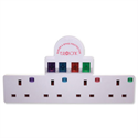 Eurosonic 4 Way Switched Neon Gang Surge Protector Ref ES987