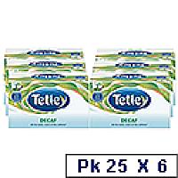 Tetley Tea Bags Decaffeinated Drawstring in Envelope Ref 1285 [Qty 6 x Pack 25]