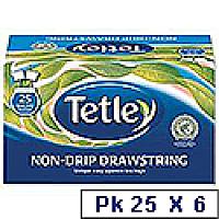 Tetley Tea Bags Black Tea Drawstring in Envelope Ref 1298 Pack 6