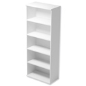 Tall Bookcase with Adjustable Shelves and Floor-leveller Feet W800xD420xH1850mm White Kito