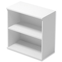 Trexus Low Bookcase with Adjustable Shelves and Floor-leveller Feet W800xD420xH853mm White