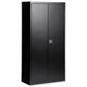 Steel Storage Cupboard 2 Doors/3 Shelves W914xD400xH1806mm Black Trexus