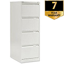 4 Drawer Steel Filing Cabinet Flush Front Chalk White Bisley BS4E