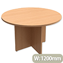 Round Meeting Table X-Panel Legs Dia1200xH725mm Beech Kito