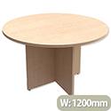 Round Meeting Table X-Panel Legs Dia1200xH725mm Maple Kito