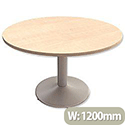 Trexus Boardroom Table Round Trumpet Base Dia1200xH725mm Maple