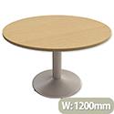 Trexus Meeting Room Table Round Trumpet Base Dia1200xH725mm Oak