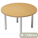 Trexus Boardroom Table Round Post Leg Dia1200xH725mm Beech